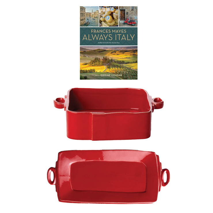 Frances Mayes Always Italy & Lastra Red Serving Set