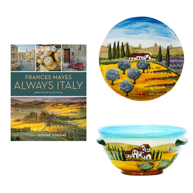 Frances Mayes Always Italy & Wall Plates Decor Set
