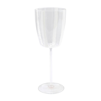 Stripe White Wine Glass by VIETRI