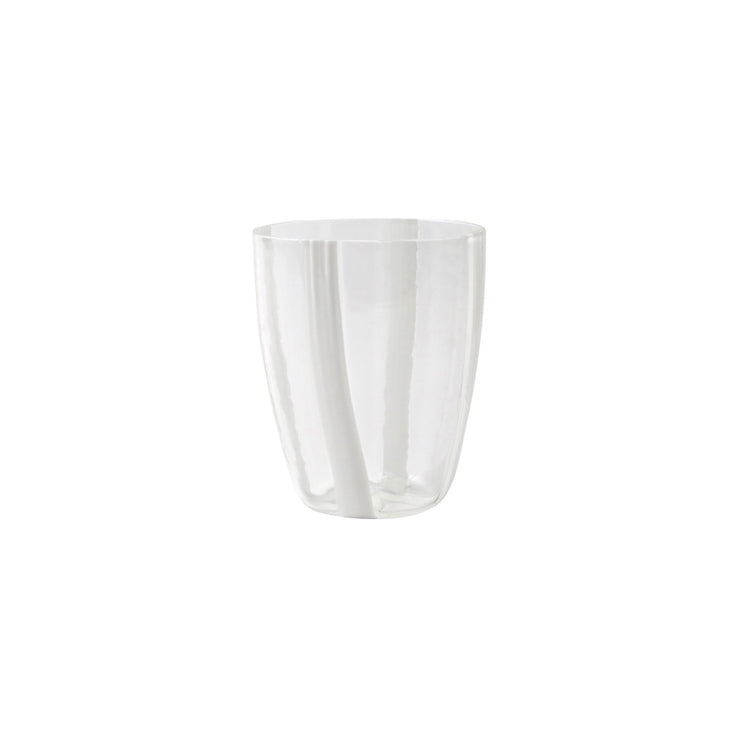Stripe White Short Tumbler by VIETRI
