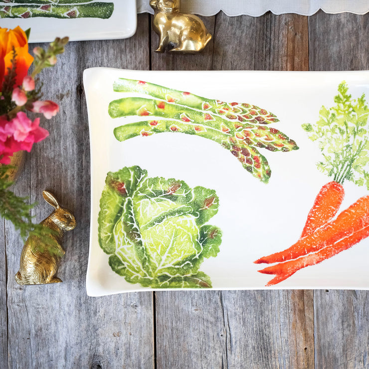 Spring Vegetables Rectangular Platter