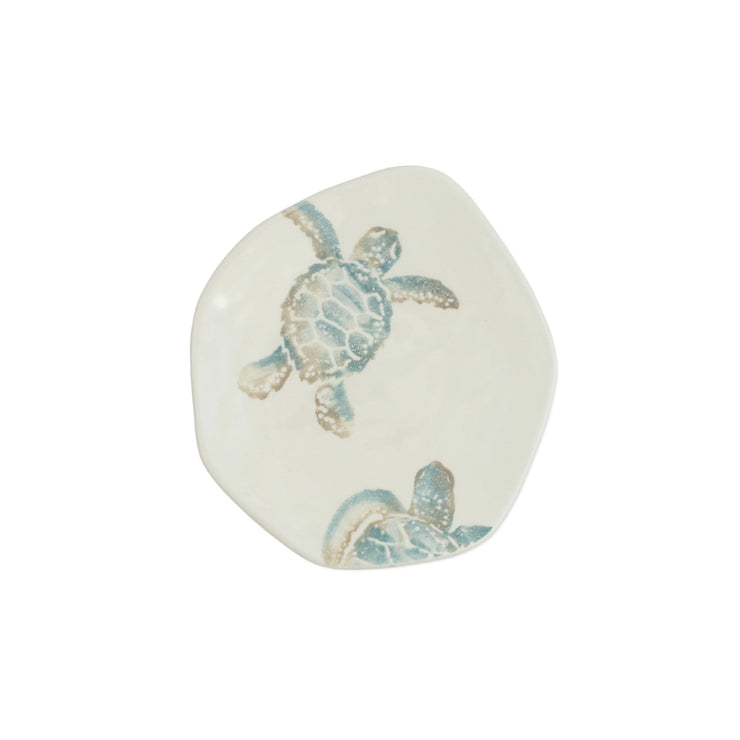 Tartaruga Turtle with Head Salad Plate by VIETRI