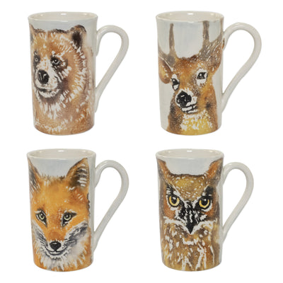 Into the Woods Assorted Mugs - Set of 4 by VIETRI