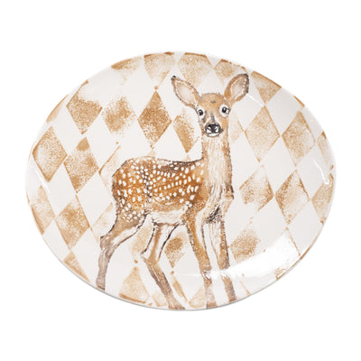 Into the Woods Doe Oval Platter by VIETRI