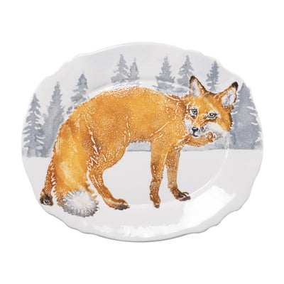 Into the Woods Fox Oval Platter by VIETRI