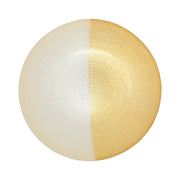 Two-Tone Glass White & Gold Small Bowl by VIETRI