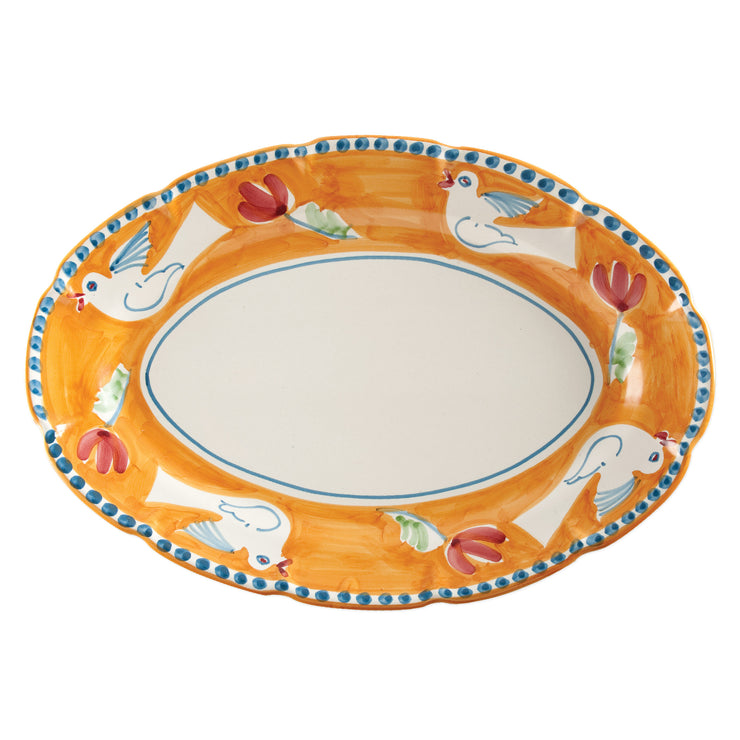 Campagna Uccello Oval Platter by VIETRI