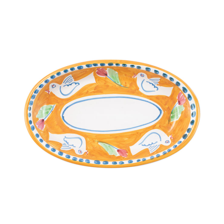 Campagna Uccello Small Oval Tray by VIETRI