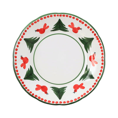 Uccello Rosso Dinner Plate by VIETRI
