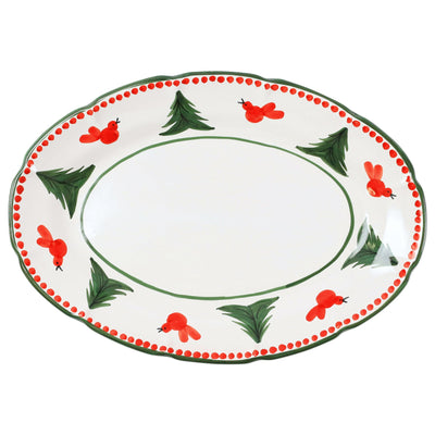 Uccello Rosso Oval Platter by VIETRI