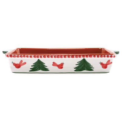 Uccello Rosso Rectangular Baker by VIETRI