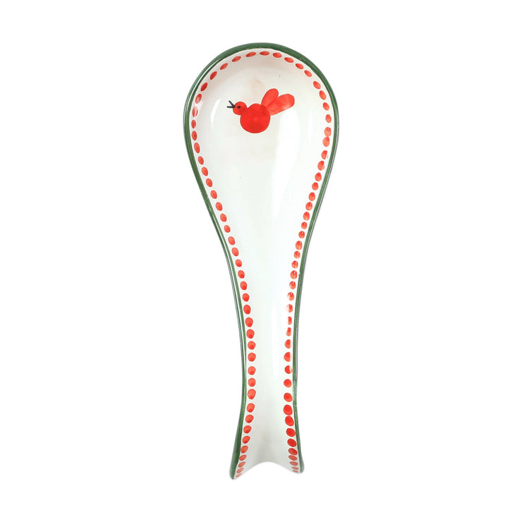 Uccello Rosso Spoon Rest by VIETRI