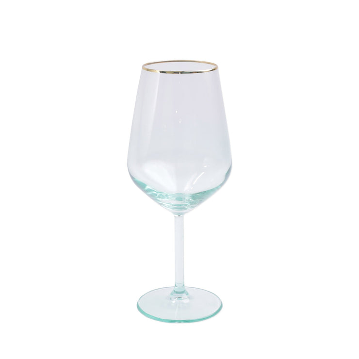 Rainbow Green Wine Glass by VIETRI
