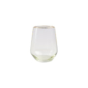 Rainbow Green Stemless Wine Glass by VIETRI