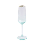 Rainbow Green Champagne Flute by VIETRI