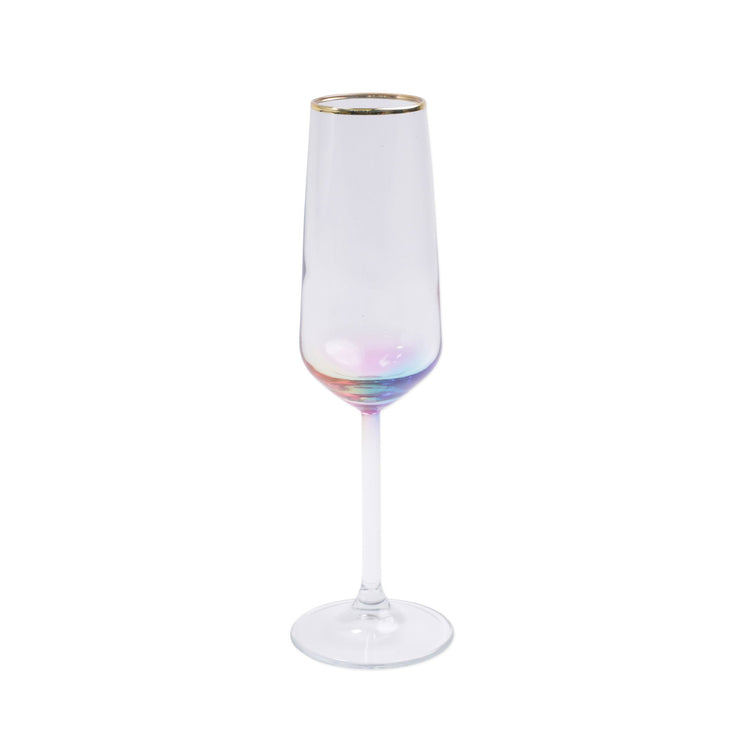 Rainbow Champagne Flute by VIETRI
