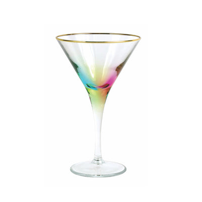 Rainbow Martini Glass