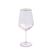 Rainbow Pink Wine Glass by VIETRI