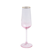Rainbow Pink Champagne Flute by VIETRI