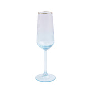 Rainbow Turquoise Champagne Flute by VIETRI