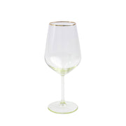 Rainbow Yellow Wine Glass by VIETRI