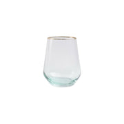 Rainbow Yellow Stemless Wine Glass by VIETRI