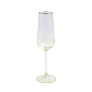 Rainbow Yellow Champagne Flute by VIETRI