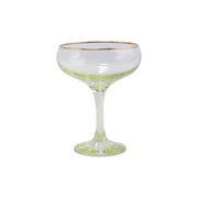 Rainbow Yellow Coupe Champagne Glass by VIETRI