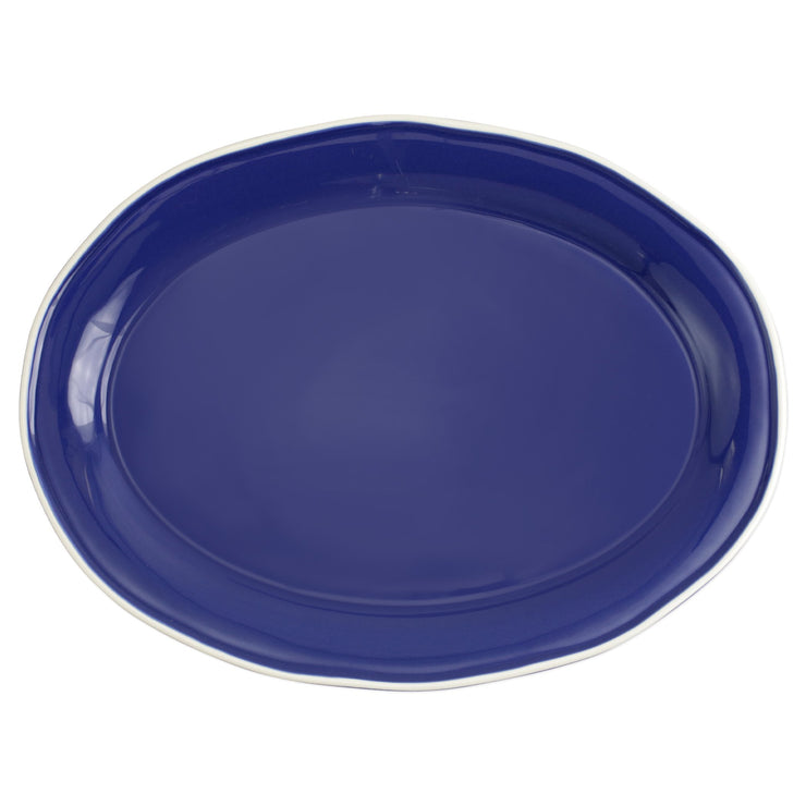 Chroma Blue Oval Platter by VIETRI
