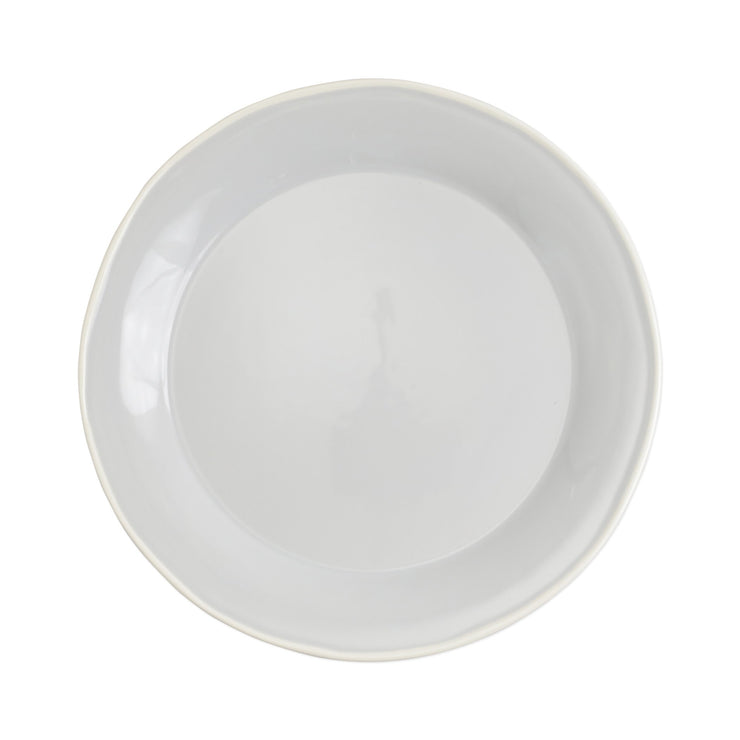 Chroma Light Gray Dinner Plate by VIETRI