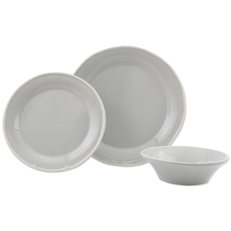Chroma Light Gray 3-Piece Place Setting by VIETRI