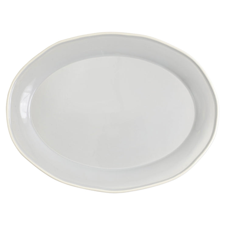 Chroma Light Gray Oval Platter by VIETRI