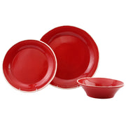 Chroma Red 3-Piece Place Setting by VIETRI