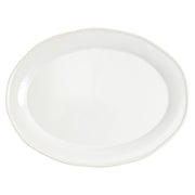 Chroma White Oval Platter by VIETRI