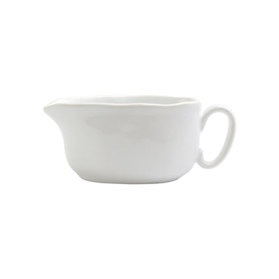 Chroma White Gravy Boat by VIETRI