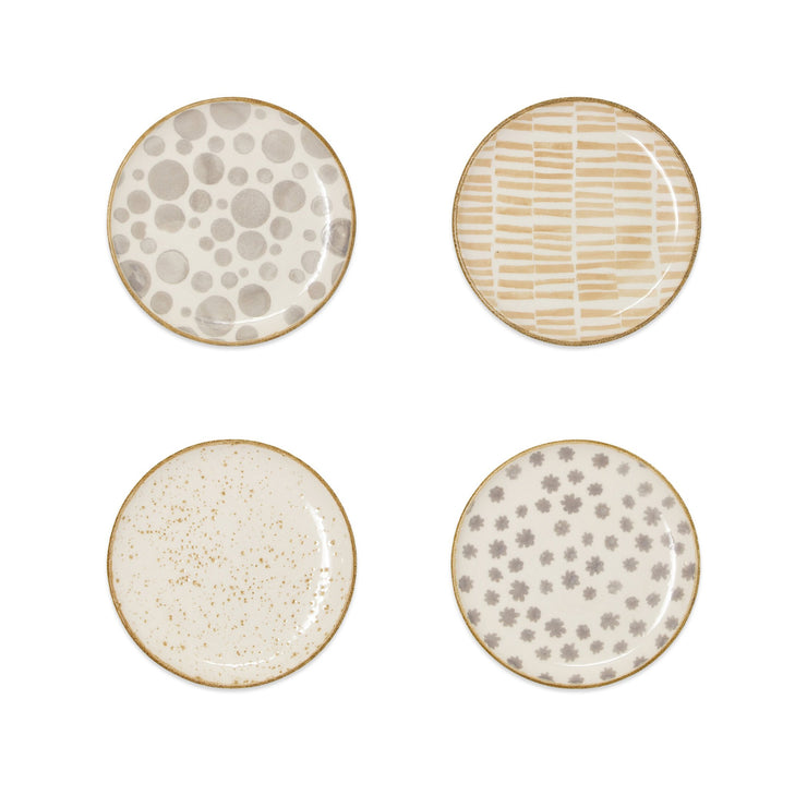 Earth Assorted Cocktail Plates - Set of 4 by VIETRI