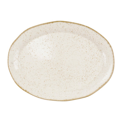 Earth Eggshell Oval Platter by VIETRI