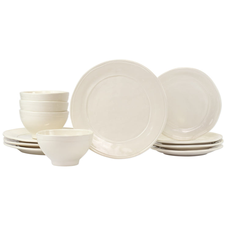 Fresh Linen 12-Piece Place Setting by VIETRI