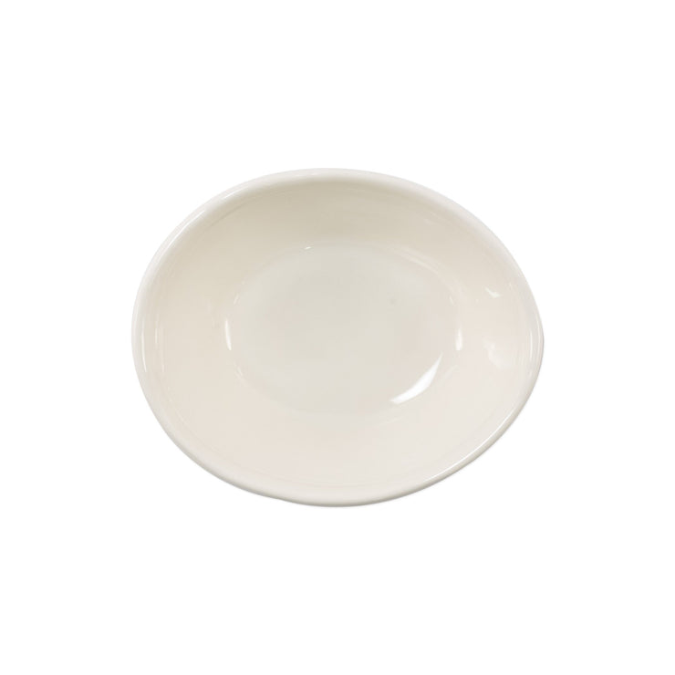 Fresh Linen Small Oval Bowl by VIETRI