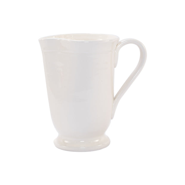 Fresh Linen Large Footed Pitcher by VIETRI