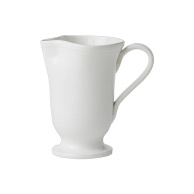 Fresh White Large Footed Pitcher by VIETRI