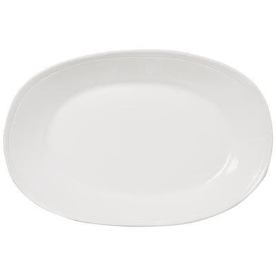 Fresh White Large Oval Platter by VIETRI