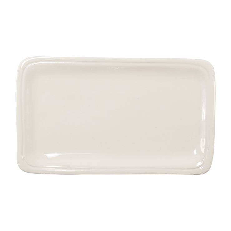 Fresh Linen Small Rectangular Platter by VIETRI