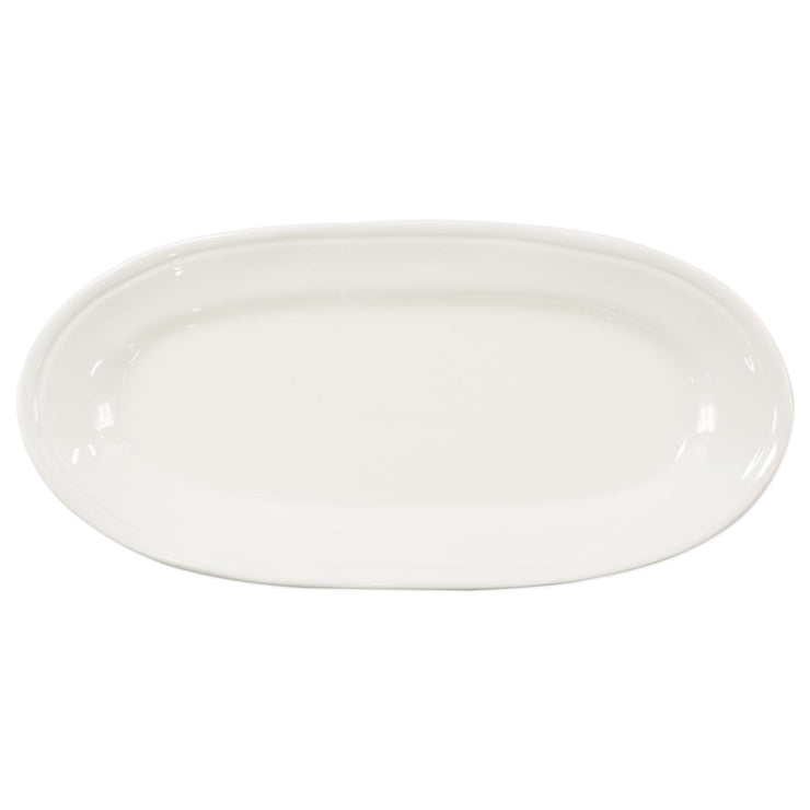 Fresh Linen Narrow Oval Platter by VIETRI
