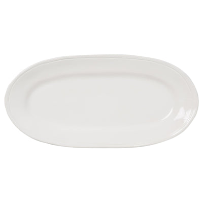Fresh White Narrow Oval Platter by VIETRI