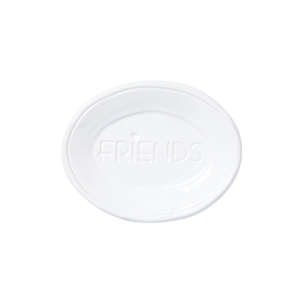 Fresh White Small Plate - Friends by VIETRI