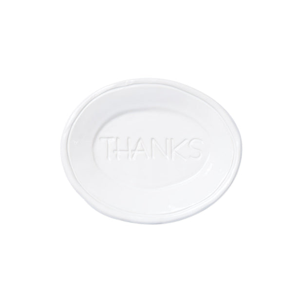 Fresh White Small Plate - Thanks by VIETRI