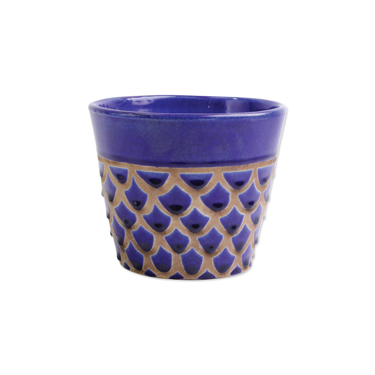 Garden Geo Cobalt Medium Cachepot by VIETRI