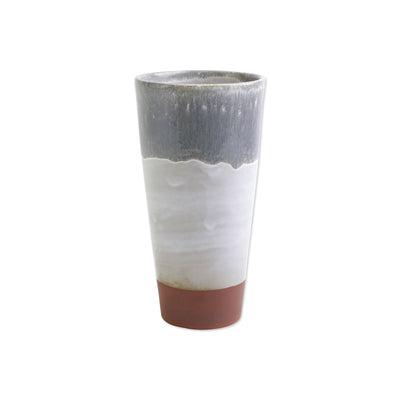 Garden Ombre Gray Tall Vase by VIETRI