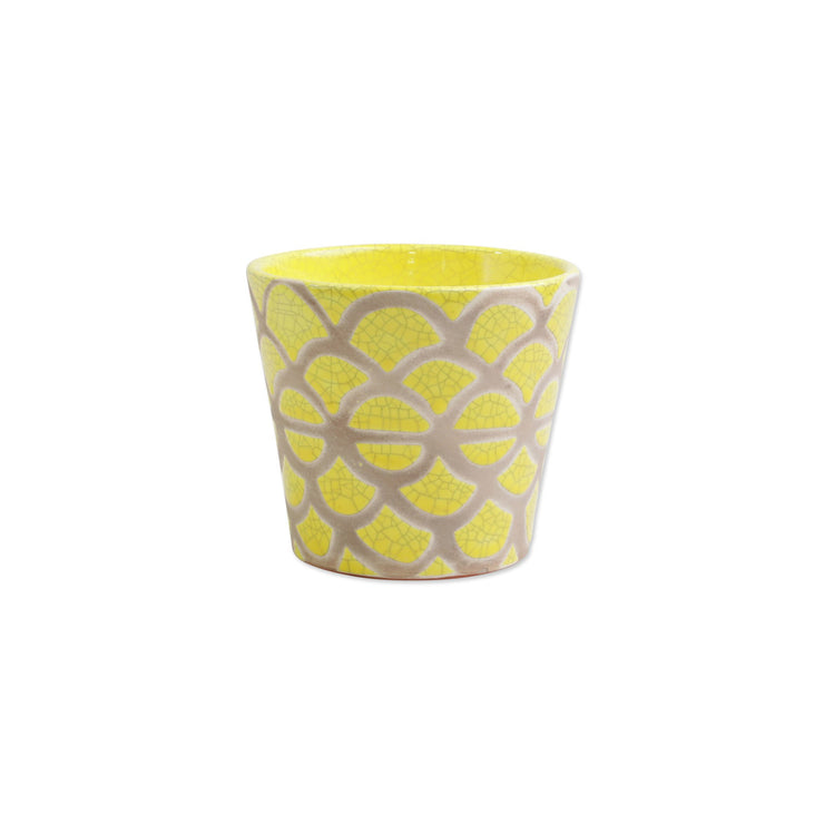Garden Geo Yellow Small Cachepot by VIETRI